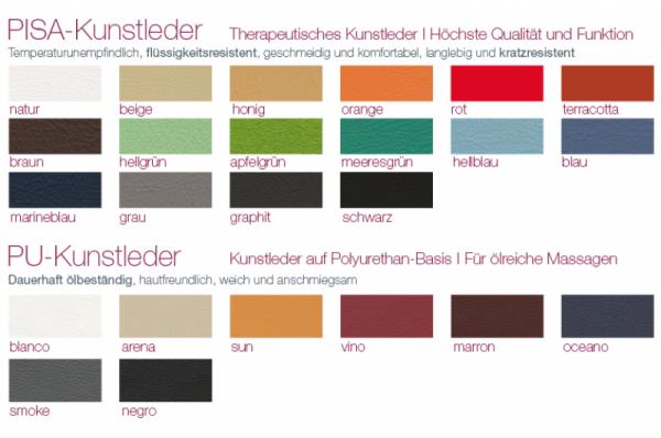 Polsterfarben für Lagerungshilfen / Lagerungspolster