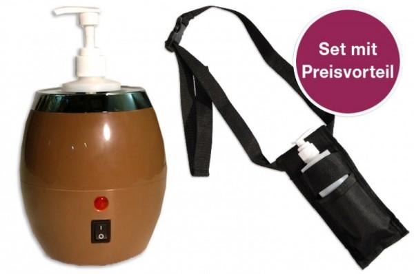 Sparset - Ölflaschenwärmer mit Ölflaschenhalter - optimal für den Praxisalltag