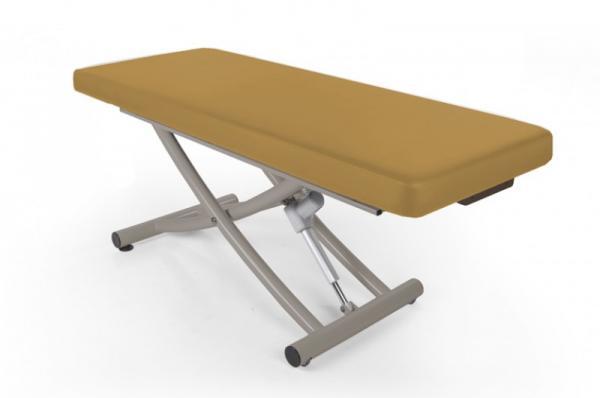 Stationäre Massageliege MATERA, 1-teilige Liegefläche, Untergestell titanium