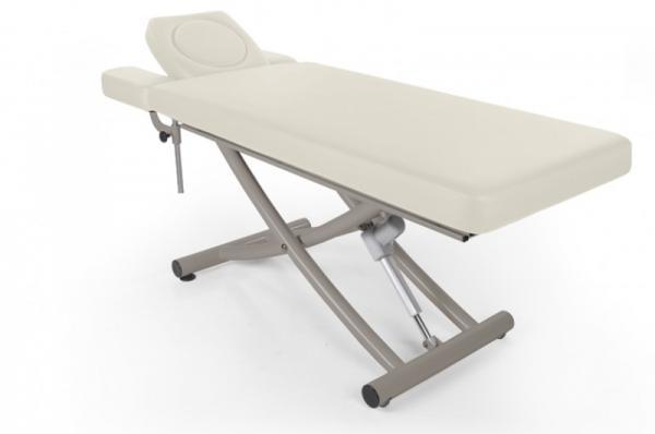 Stationäre elektrische Massageliege Matera, 4 Segmente mit Kopfteil und Armablagen