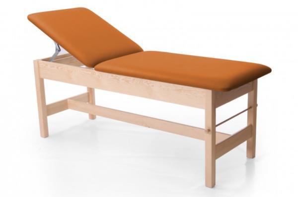 Untersuchungsliege MedFix mit hochstellbarem Rückenteil - Farbe: orange