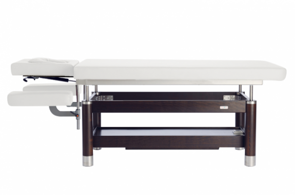 Stationäre elektrische Massageliege AMBRA Motion 4 Segmente | Untergestell - Palisander gebeizt