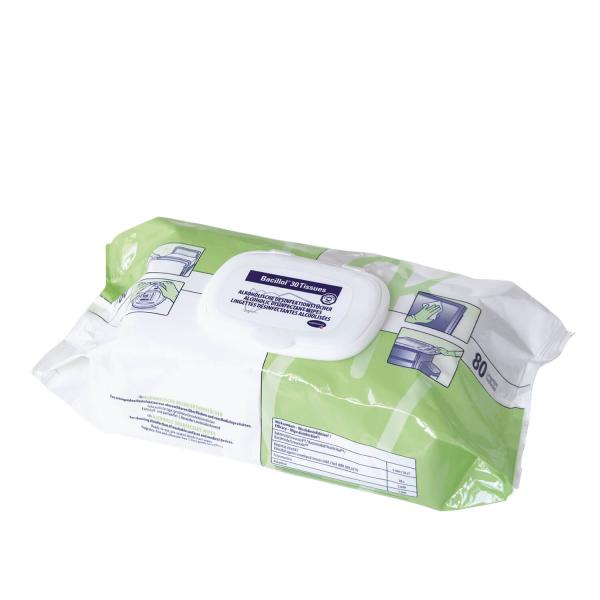 Bacillol® 30 Foam* vorgetränkte gebrauchsfertige Desinfektionstücher