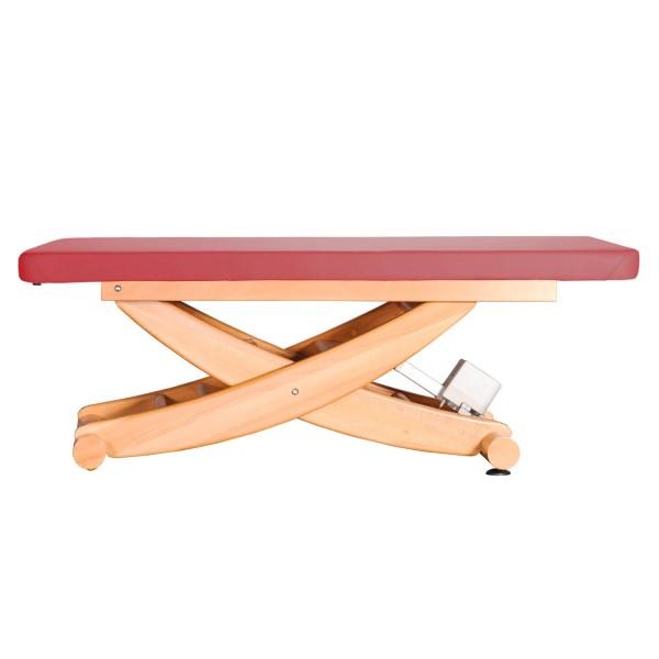 Holz Massageliege HAVANNA mit durchgängiger Liegefläche | Untergestell: Buche lackiert | Farbe PU-PINO