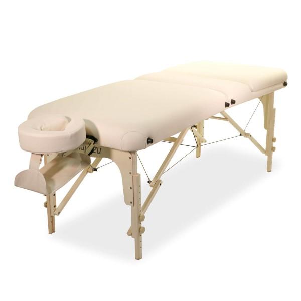 Mobile Kosmetikliege-| Wellnessliege mit hochsteckbaren Rückenteil & Zubehör