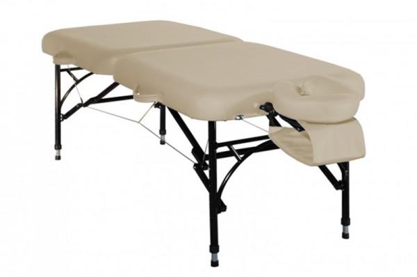 Mobile Massageliege ClapTzu VOYAGE in Farbe BEIGE - das Leichtgewicht ( Aluminium )