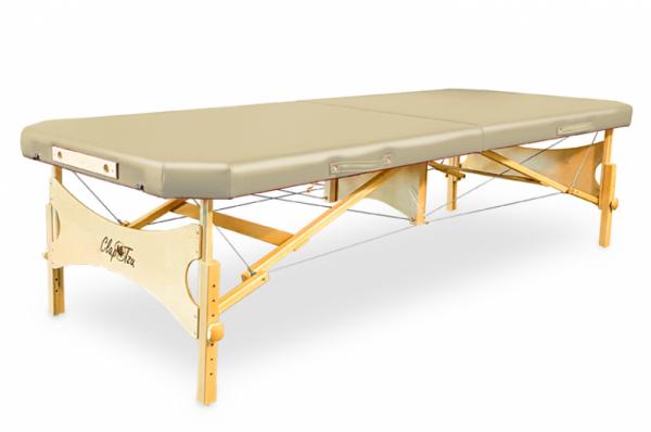 Mobile Massageliege STANDARD Pro Feldenkrais EDGE, abgeschrägte Ecken, Bezugsfarbe: PU-arena