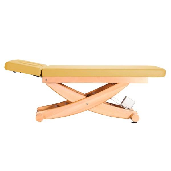 Massageliege Massivholz | HAVANNA 2-teilige Liegefläche | Untergestell. Buche lackiert | Farbe PU-sol