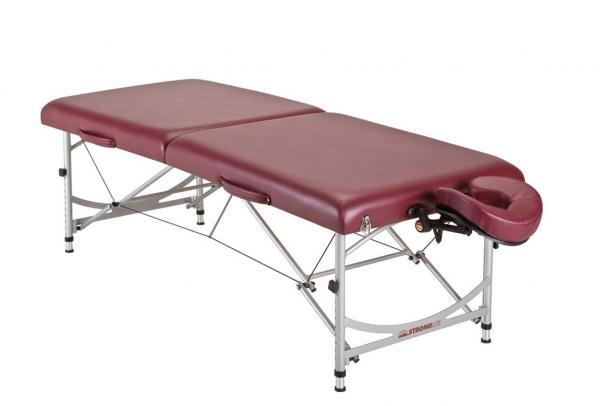 Leichtgewicht - Stronglite Versatile PRO Massageliege - burgund