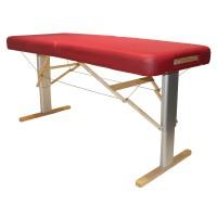 Mobiler Massagetisch LINEA Wellness mit elektrischer Höhenverstellung, breite Liegefläche, komfortable Luxuspolsterung, Farbe PU-vino